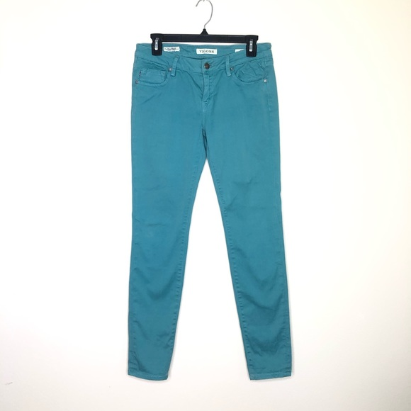 Vigoss Denim - Vigoss The Jagger Super Skinny Jean in teal